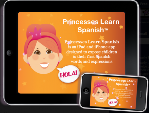 princesses learn spanish bilingual app