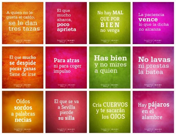 dichos refranes español spanish