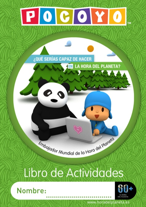 Pocoyo earth hour Spanish activity book