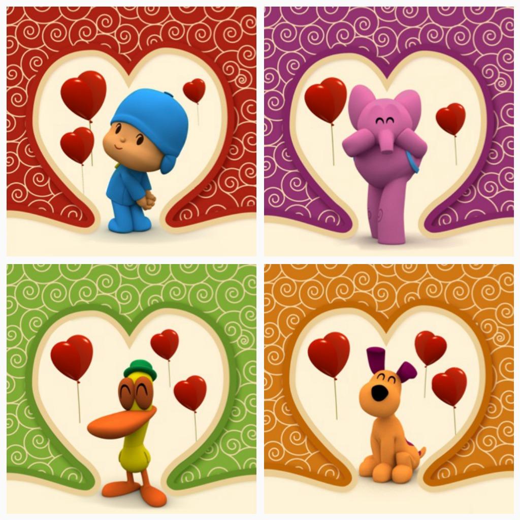 free pocoyo valentines cards