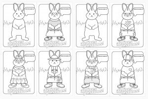 Felices Pascuas Coloring Cards by Grafikisto