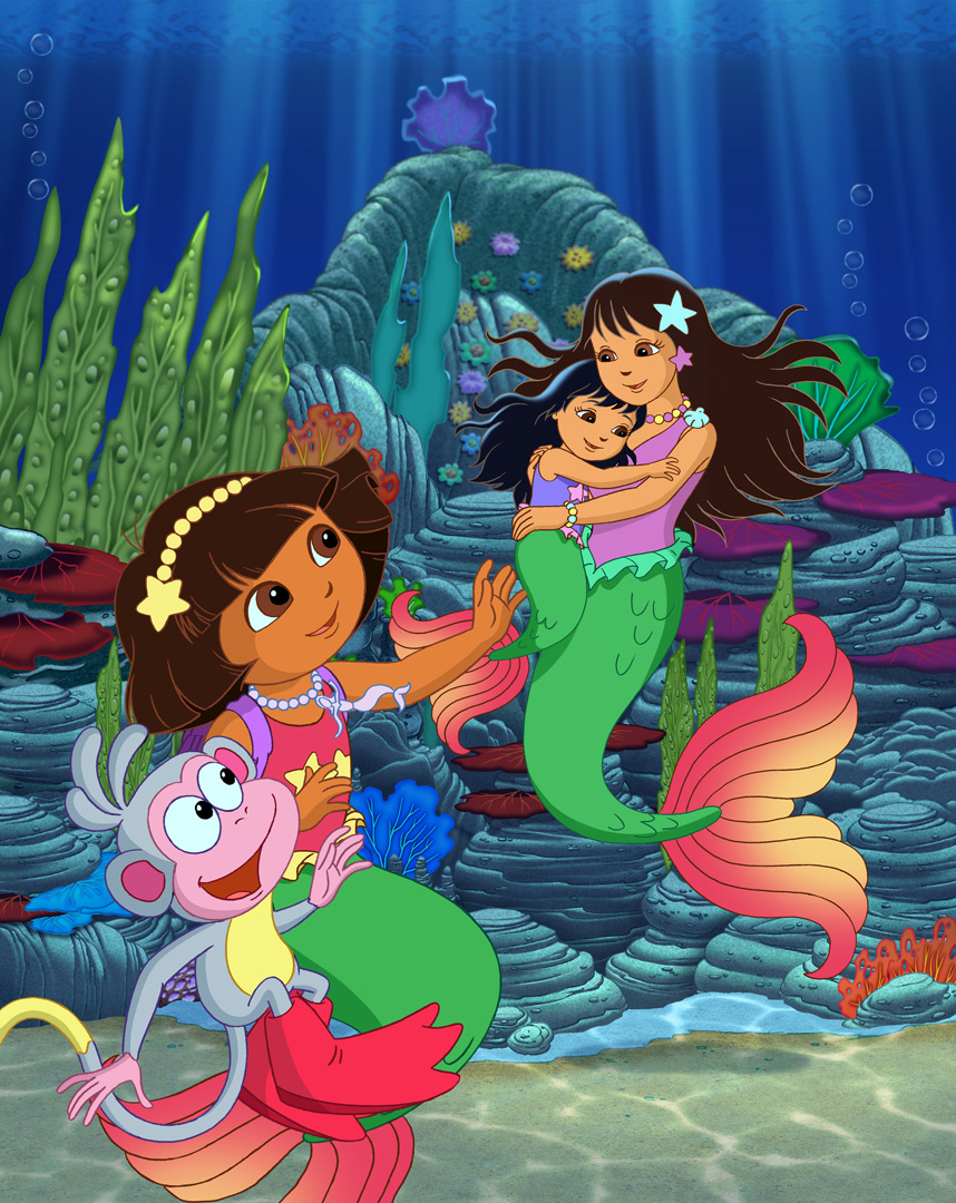 Nick Jr. Dora The Explorer Dora's Rescue In Mermaid Kingdom