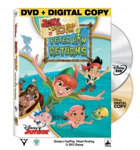 Disney Junior Jake and the Neverland Pirates Peter Pan Returns DVD