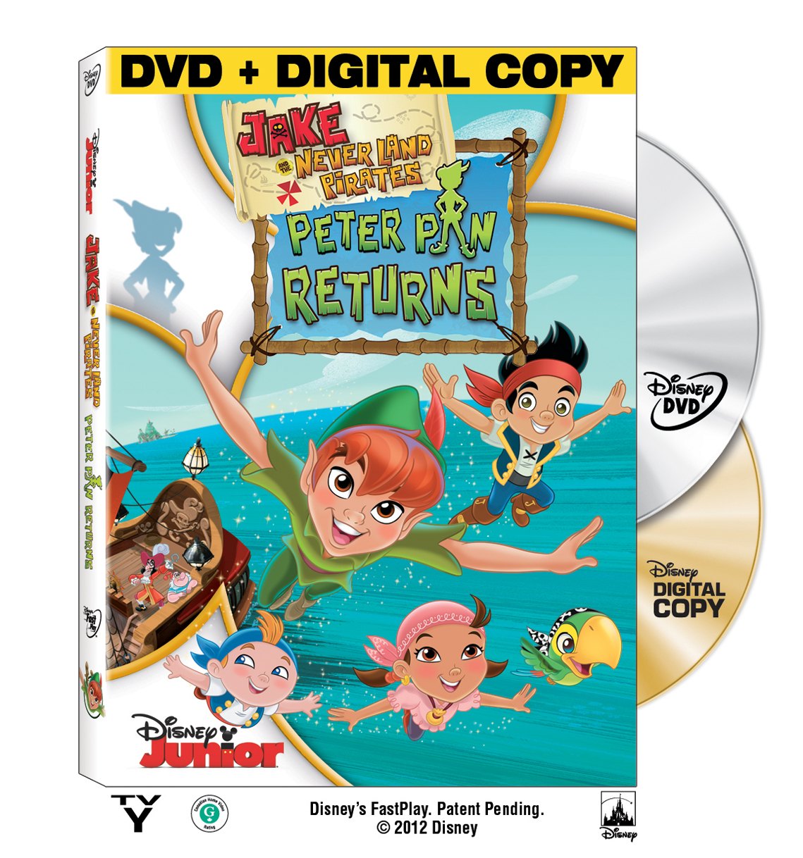 Disney Junior Jake and the Neverland Pirates Peter Pan Returns DVD