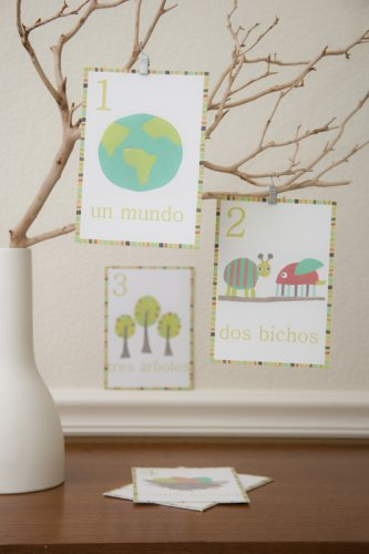 children inspire design spanish number cards