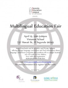 multilingual education fair in los angeles parents education league