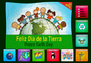 online free spanish online games activities earth day dia de la tierra