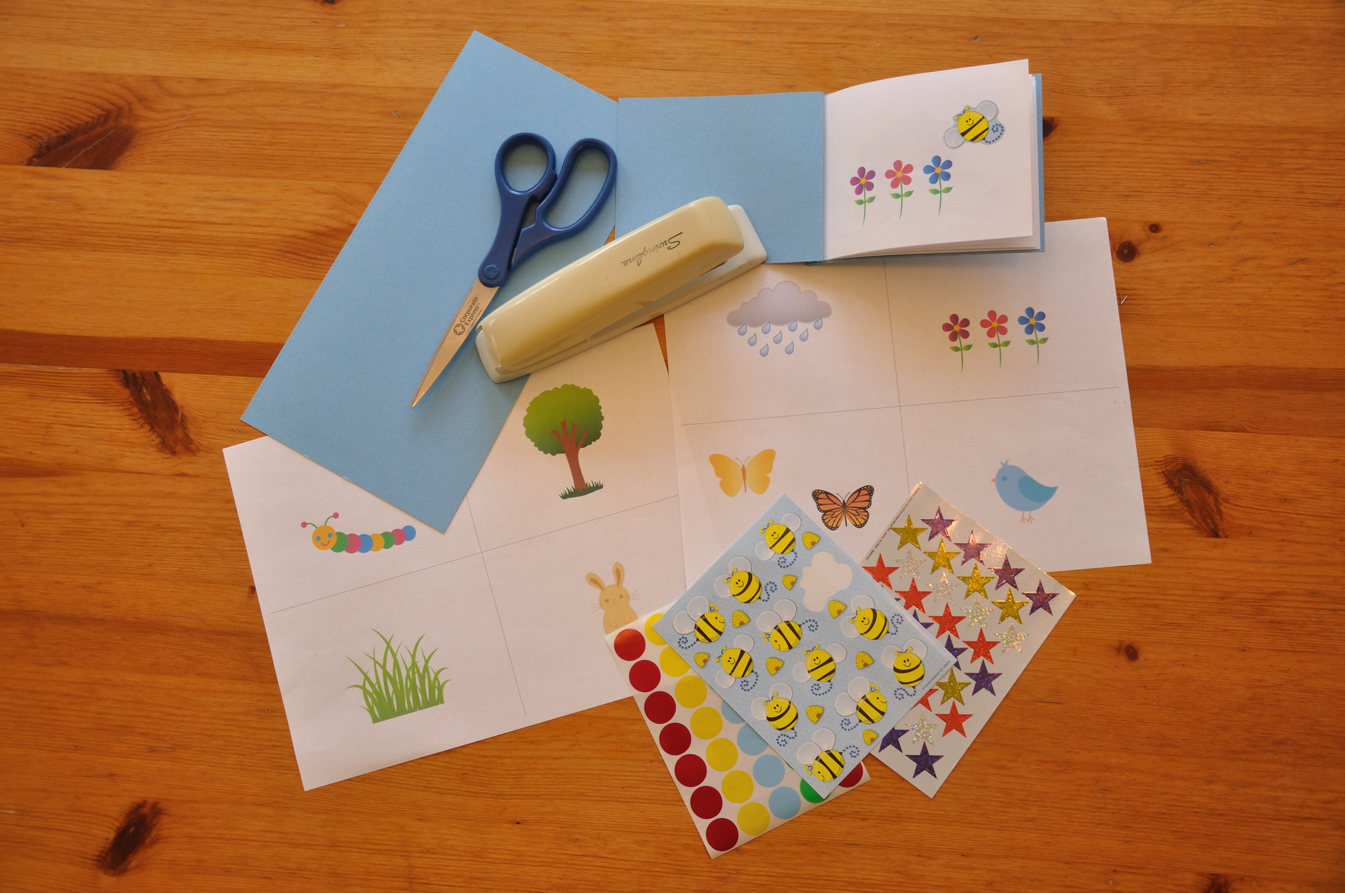 mini sticker book activity