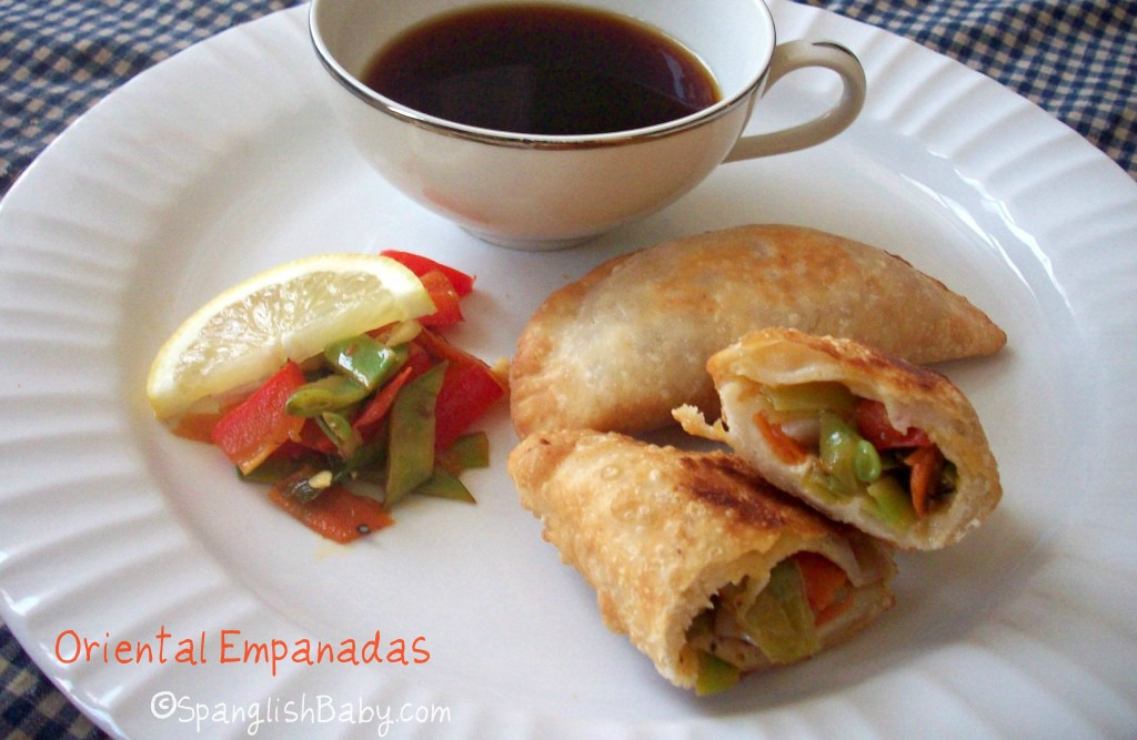 oriental empanadas with mitsukan citrus soy sauce
