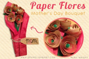 mother´s day craft, dia de las madras, paper flowers, flores de papel
