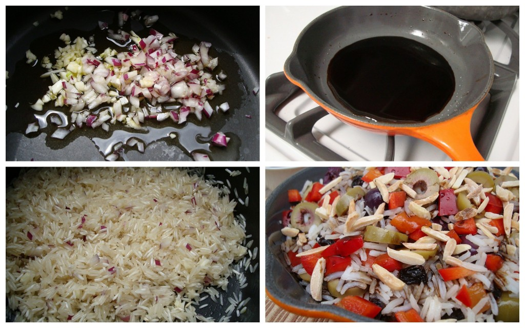 simple balsamic olive and pepper rice pilaf recipe