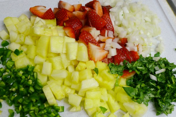 Strawberry and Mango Salsa Ingredients