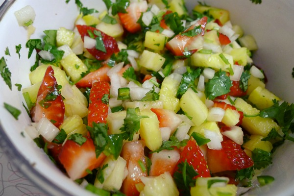 Strawberry and Mango Salsa