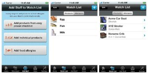 Recalls Plus app example
