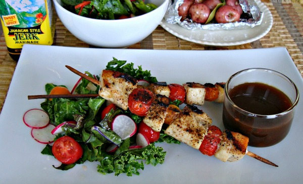 Swordfish-brochettes with World Harbors Jamaican Style JERK Marinade recipe