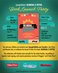 bilingual is better book launch invitation