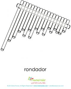 rondador instrument coloring page
