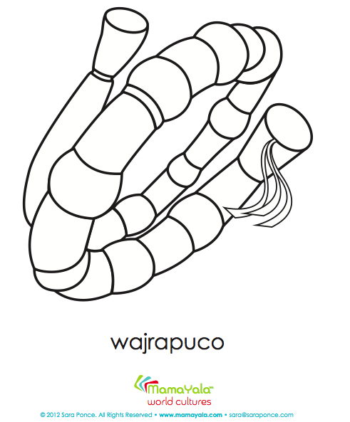 instruments coloring pages wajrapuco