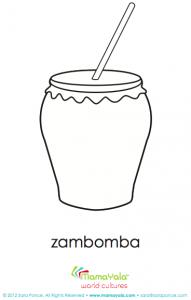 zambomba musical instrument coloring page