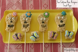 Fun Catrina Rice Krispies Treat Pops recipe