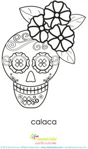 girl calaca day of the dead printable