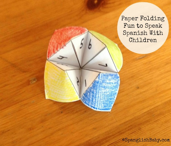 Paper Folding Fun to Speak Spanish With Children {Printable}
