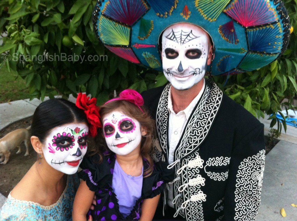 Day of the Dead calaca face painting