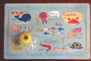 Bebe-Bilingual placemat