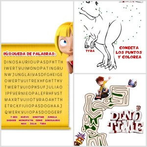 Dino spanish printable activity sheets