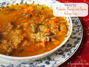 Hearty Mushroom, Marsala and Quinoa Autumn Soup recipe