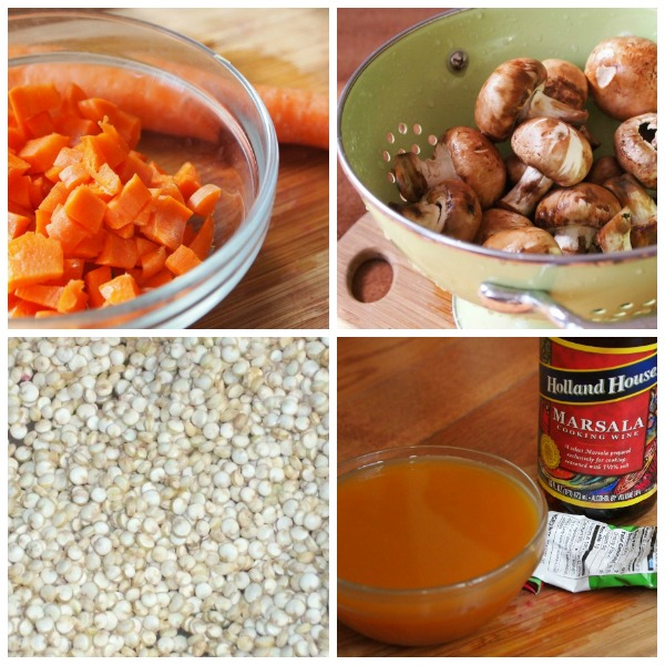 Hearty Mushroom, Marsala and Quinoa Autumn Soup ingredients