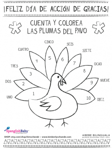 spanish thanksgiving coloring sheet