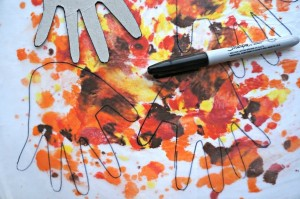 fall art and science leaf activity