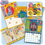 Multicultural Calendar and Sticker Set