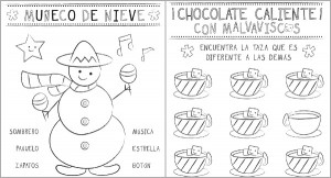 spanish christmas printable activity pages