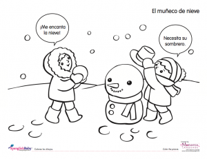 snowman spanish printable