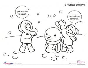 snowman spanish printable
