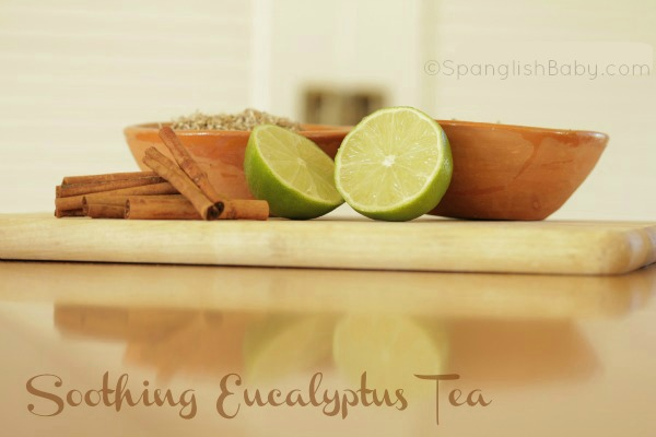 home remedy remedios caseros eucalyptus, cinnamon, echinacea, lime, and honey tea