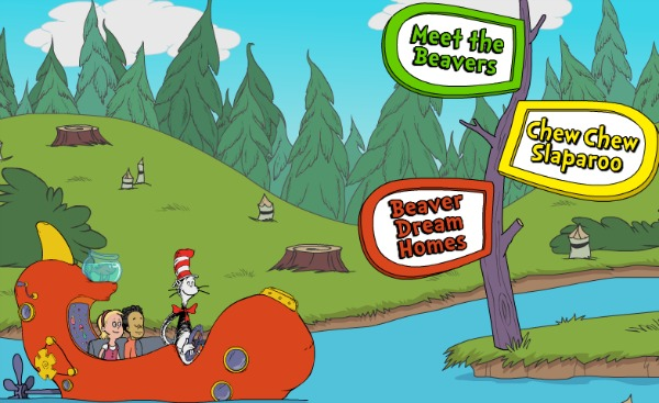 PBS Kids the cat in the hat Beaver city educational game