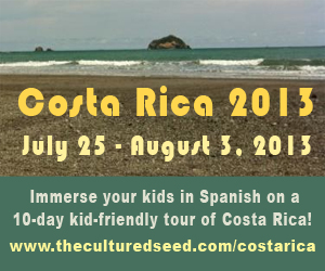 10 day Spanish immersion trip for children, Costa Rica