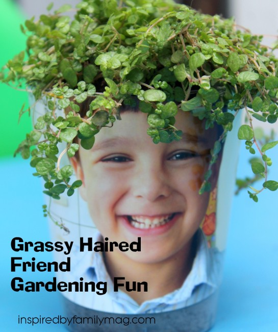 Grassy Haired Friend Gardening Fun