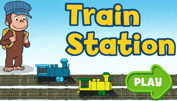 PBS Kids Curious George Train station game