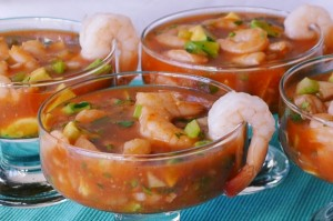 shrimp cocktails coctel de camaron