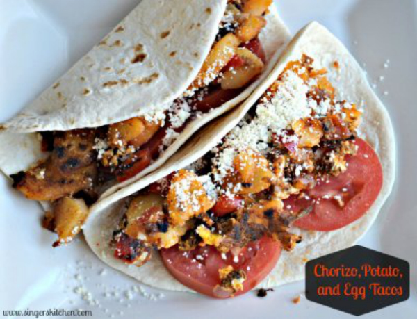 Chorizo, Potato, and Egg Tacos recipe - singerskitchen.com