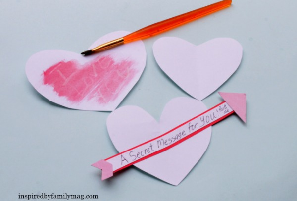 "secret message valentines ""invisible ink"" by inspired by family mag - SpanglishBaby.com"