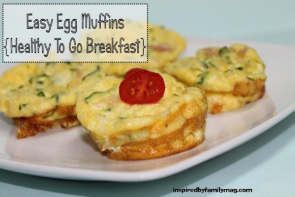 easy egg muffins: healthy to go breakfast - inspiredbyfamilymag.com