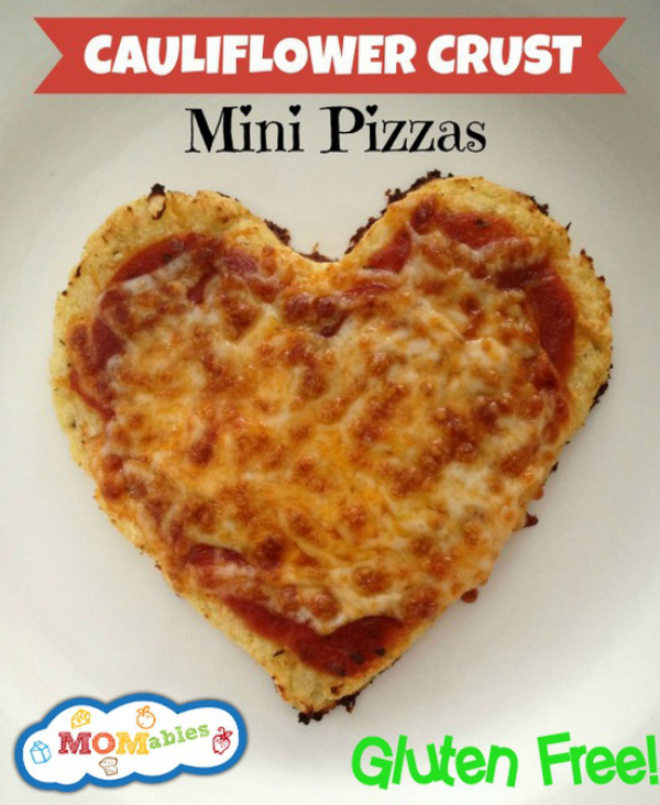 Cauliflower Crust Mini Pizzas - Gluten &amp; Grain Free - momables.com