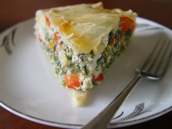 spinach and ricotta tart with peppers recipe - fromargentinawithlove.typepad.com