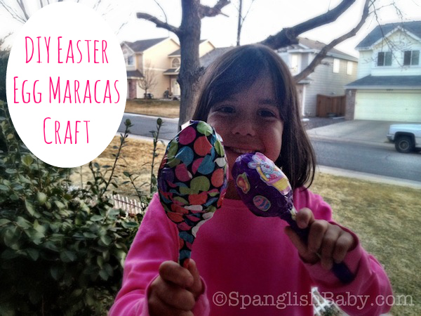 Easy DIY Easter Egg Maracas Craft - SpanglishBaby.com
