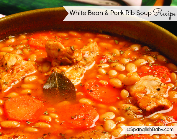 White Bean Soup Recipe - SpanglishBaby.com